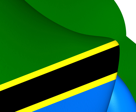 tanzania: Flag of Tanzania. Close Up.