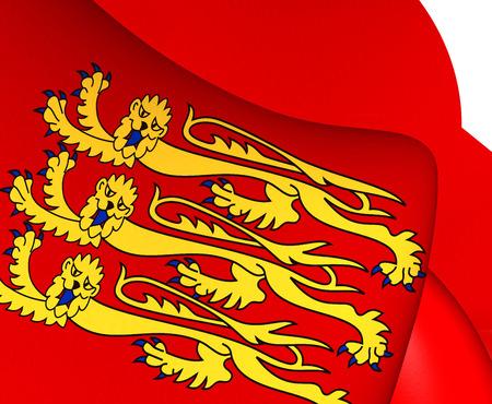 edward: Royal Banner of England. Close Up.