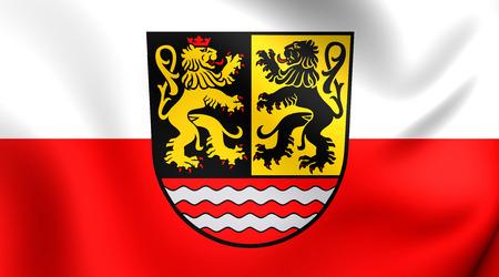 orla: Flag of Saale-Orla, Germany. Close Up.