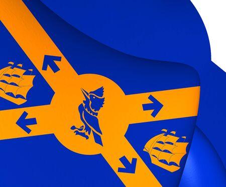 halifax: Flag of Halifax, Canada. Close Up.