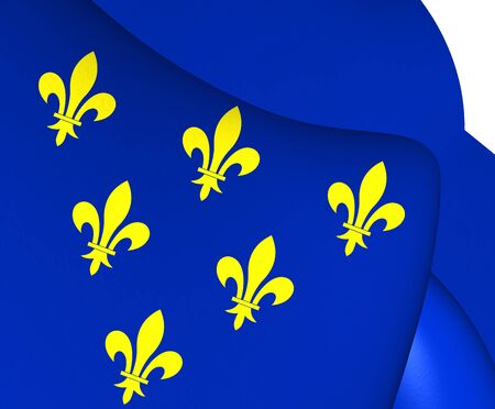 wallonie: Flag of Donceel, Belgium. Close Up.