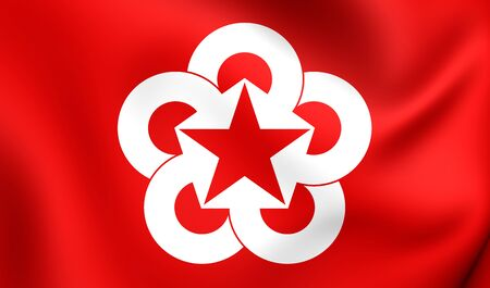 communistic: Flag of Council for Mutual Economic Assistance. Close Up.