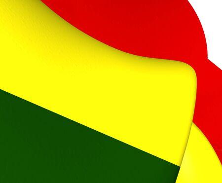 bolivia: Flag of Bolivia. Close Up.