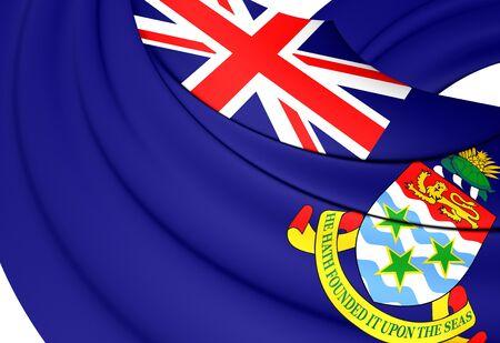 cayman: Flag of Cayman Islands. Close Up.