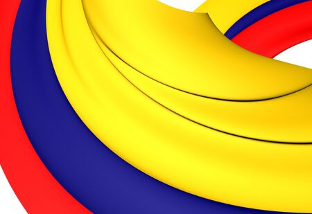 flutter: Flag of Colombia. Close Up. Stock Photo