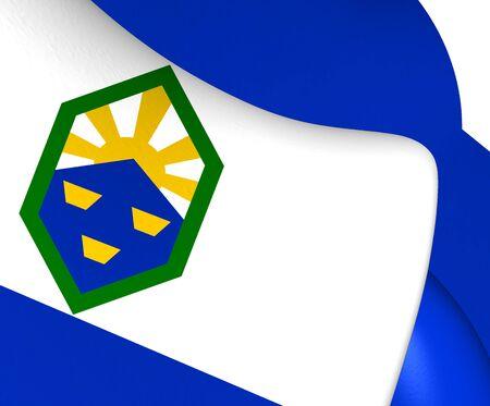 flag of colorado: Flag of Colorado Springs, USA. Close Up.
