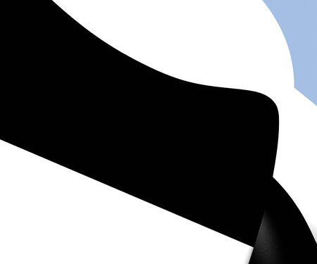 municipality: Flag of Delft, Netherlands. Close Up.