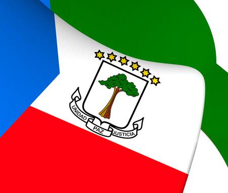 equatorial guinea: Flag of Equatorial Guinea. Close Up. Stock Photo