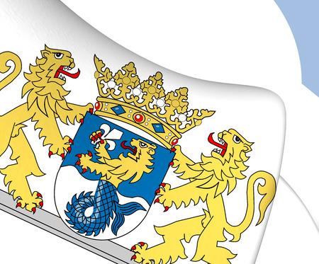 flevoland: Flevoland Coat of Arms, Netherlands. Close Up.