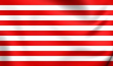 goes: Flag of Goes, Netherlands. Close Up.