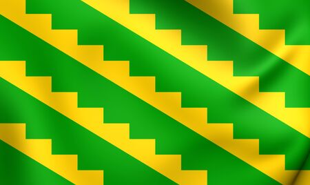 puerto rico: Flag of Gurabo, Puerto Rico. Close Up.
