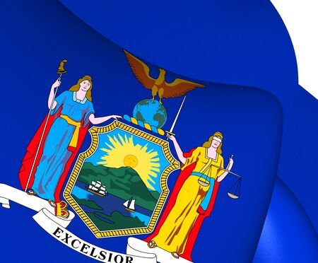 new york state: Flag of New York State, USA. Close Up.