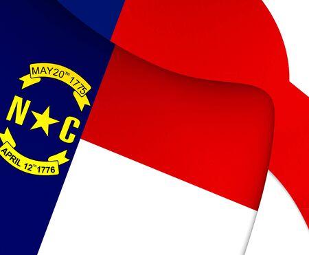 north carolina: Flag of North Carolina, USA. Close Up. Stock Photo