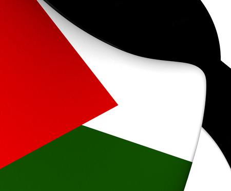 palestine: Flag of Palestine. Close Up.