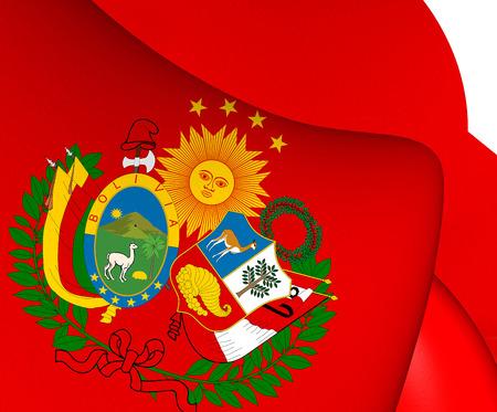 confederation: Bandiera della Confederazione Per�-Bolivia. Avvicinamento.