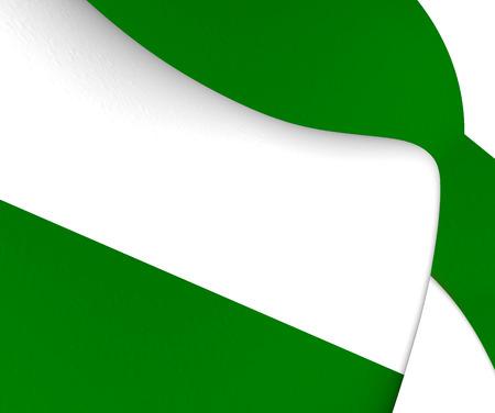 rotterdam: Flag of Rotterdam, Netherlands. Close Up.
