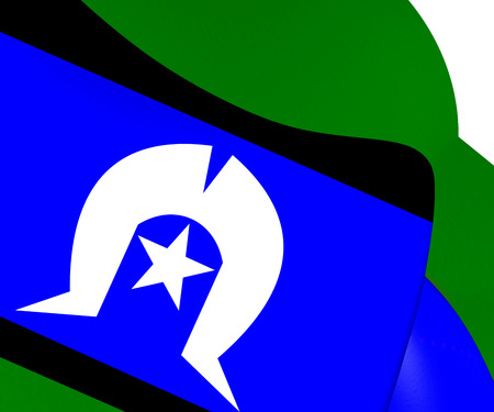 islanders: Torres Strait Islanders Flag. Close Up.