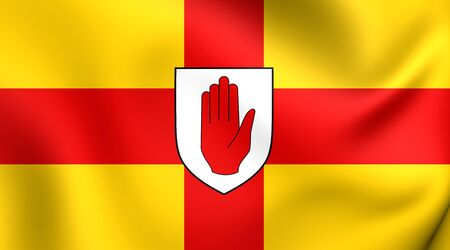 ulster: Flag of Ulster Province, Ireland. Close Up.