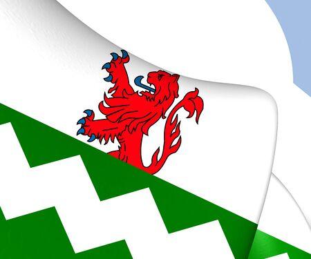 westland: Flag of Westland, Netherlands. Close Up.