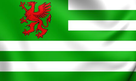 Flag of Wiltshire County Council. Close Up. Stock Photo