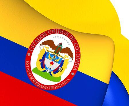 bandera de panama: Estado Soberano de Panamá, 1863-1886 (Colombia) Bandera. Acercamiento.