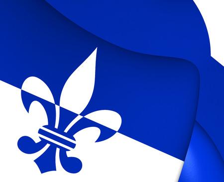 3d flag: 3D Flag of Scherpenzeel, Netherlands. Close Up. Stock Photo