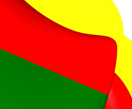 bandera de puerto rico: Bandera 3D de Humacao, Puerto Rico. Acercamiento.