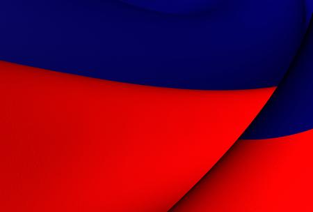 haiti: 3D Flag of the Haiti. Close Up.