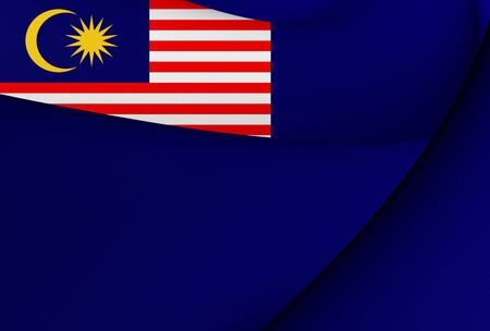 ensign: 3D Government Ensign of Malaysia. Close Up.