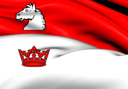 southwestern ontario: 3D Flag of Guelph, Canada. Close Up.