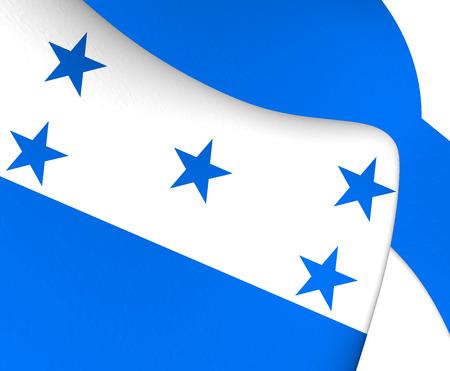 honduras: 3D Flag of the Honduras. Close Up.