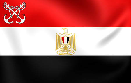 naval: 3D Naval Ensign of the Egypt. Close Up.