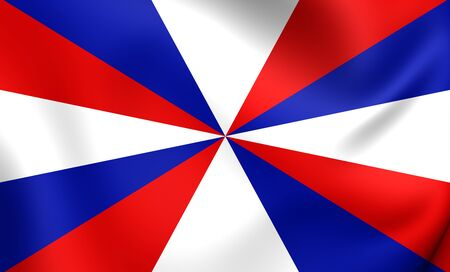 naval: 3D Naval Jack of the Netherlands. Close Up. Stock Photo