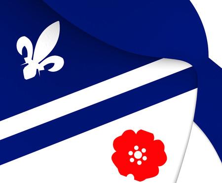 bonnie: 3D Flag of Franco Albertains. Close Up. Stock Photo