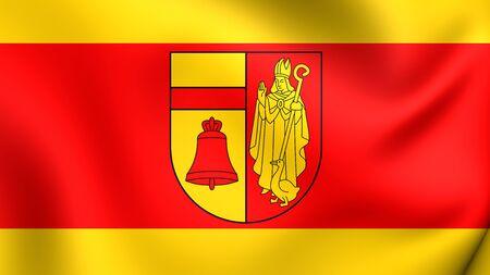 munster: 3D Flag of Coesfeld, Germany. Close Up.