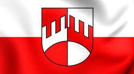 tirol: 3D Flag of the Iselsberg-Stronach, Austria. Close Up.