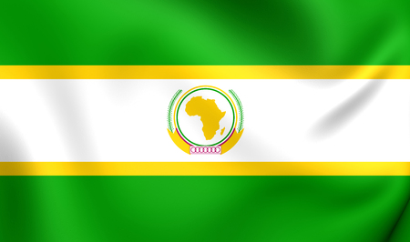 former: Former Flag of the African Union. Close Up.