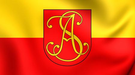 ボフニャ郡、ポーランドの旗。ク...