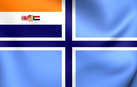 ensign: South African Civil Air Ensign (1935-1994). Close Up. Stock Photo