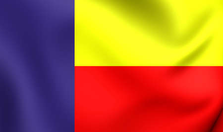 panamanian: 3D Flag of the Panamenista Party. Close Up.