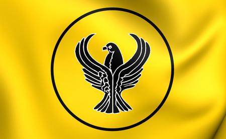 former: 3D Flag of the Pontus. Close Up.
