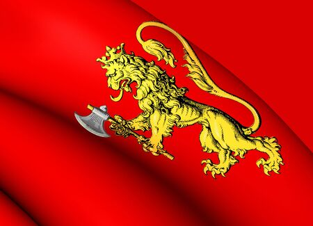 norway: Royal Standard of the Norway. Close Up. Stock Photo