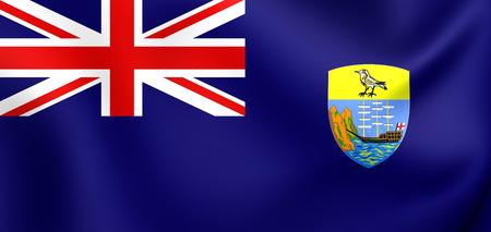 helena: 3D Flag of the Saint Helena. Close Up.