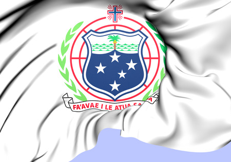 independent: Independent State of Samoa Coat of Arms. Close Up. Stock Photo