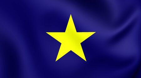 former: Republic of Texas (1836-1839) 3D Flag. Close Up.