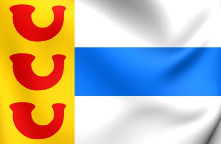 limburg: 3D Flag of the Weert, Netherlands. Close Up.