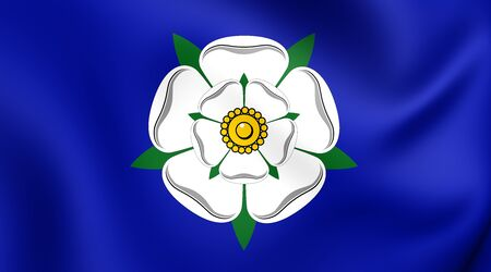 yorkshire: 3D Flag of the Yorkshire, England. Close Up.