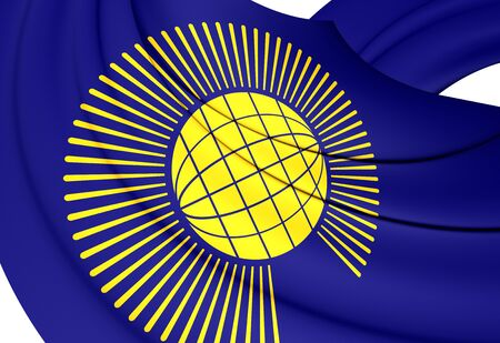 nations: Commonwealth of Nations 3D Flag. Close Up.
