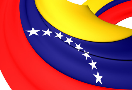 venezuela: 3D Civil Ensign of Venezuela. Close Up. Stock Photo