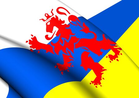 limburg: 3D Flag of the Limburg, Netherlands. Close Up.
